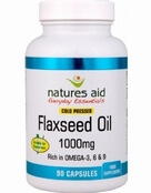 Natures Aid Flaxseed Oil 1000mg (Omega 3, 6 + 9) 135 Capsules