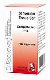 Complete Set of 12 Schuessler Individual Tissue Salts - BULK OFFER!