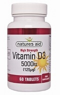 Natures Aid Vitamin D3 5000 iu 60 tablets