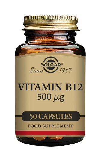 Solgar Vitamin B12 500 µg 50 Vegetable Capsules