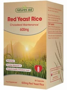 Natures Aid Red Yeast Rice 600mg 90 Capsules