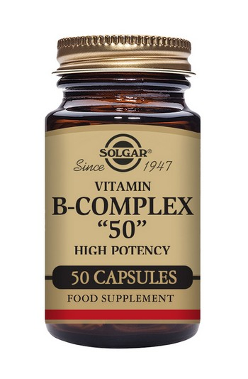 Solgar B Complex 50 mg 50 Vegetable Capsules
