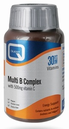 Quest Multi B Complex plus 500mg of Vitamin C  30 Tablets
