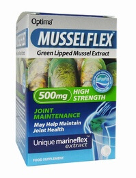 Optima Musselflex Green Lipped Mussel Extract 500mg 30 Tablets