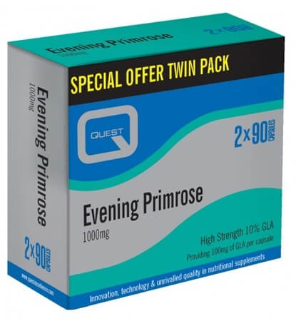 Quest Evening Primrose Oil 1000mg 180 Caps 2x90 TWIN PACK