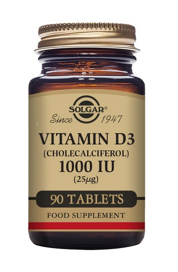Solgar Vitamin D3 1000 IU 90 Tablets