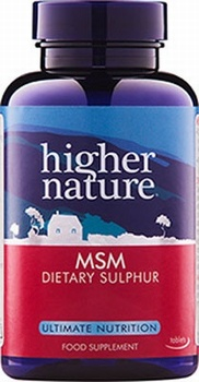 Higher Nature MSM Sulphur 1000mg 180 Tablets