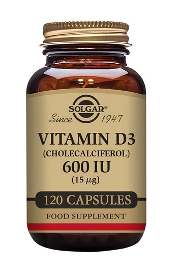 Solgar Vitamin D3 600 iu 120 Vegetable Capsules