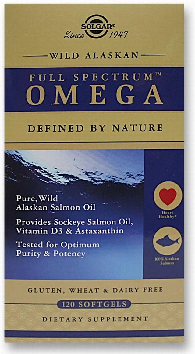 Solgar wild alaskan full spectrum omega oil 120 softgels for Spectrum fish oil