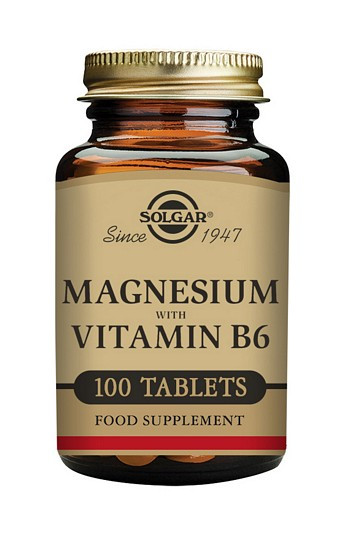 Solgar Magnesium with Vitamin B6 100 Tablets