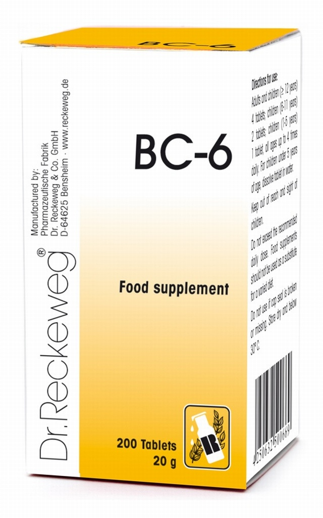 Dr Reckeweg BC-6 200 Tablets - BULK OFFER!