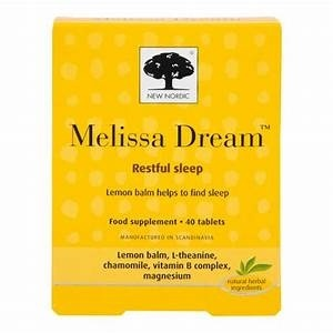 New Nordic Melissa Dream for Sleep 40 Tablets