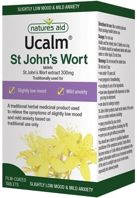 Natures Aid Ucalm St John's Wort Extract 300mg 60 Tablets (Licensed)