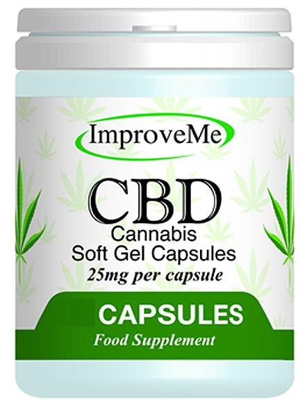 Improve Me Organic CBD Cannabis Oil 25mg 30 Soft Gel Capsules
