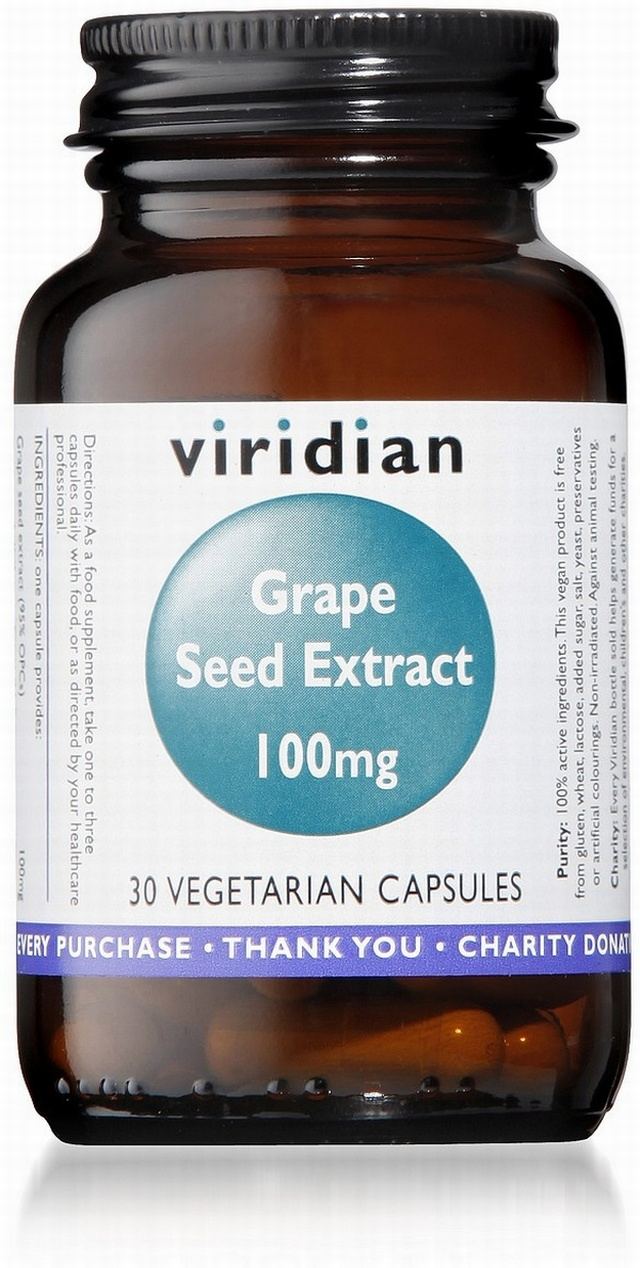 Viridian Grape Seed Extract 100mg 30 Vegetable Capsules