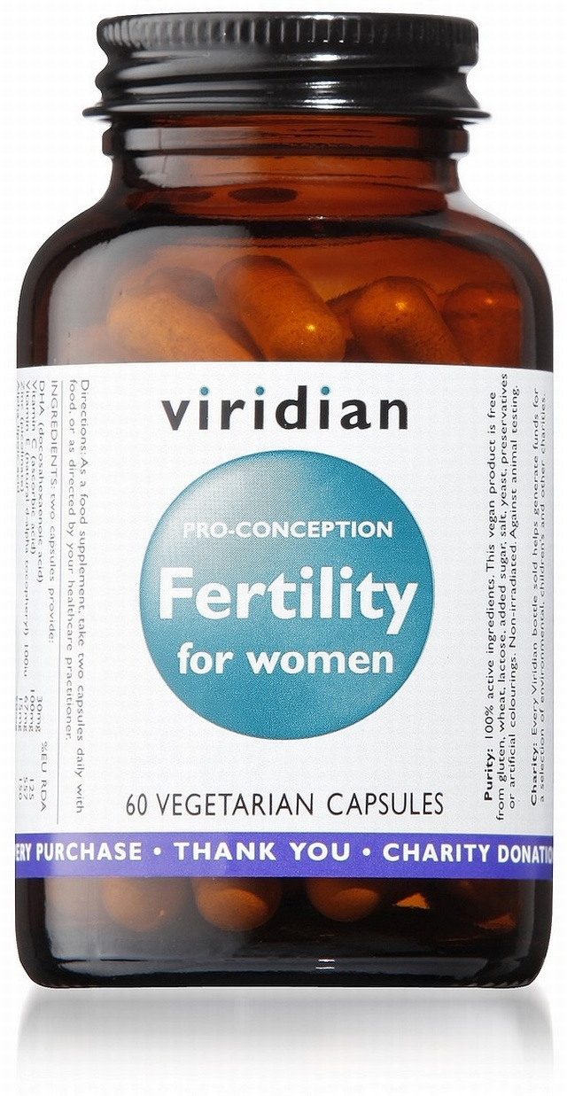 Viridian Fertility for Women 60 Vegetable Capsules