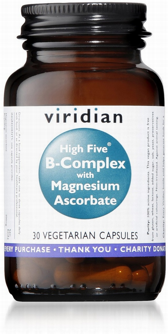 Viridian HIGH FIVE B-Complex/Mag Ascorbate 30 Vegetable Capsules