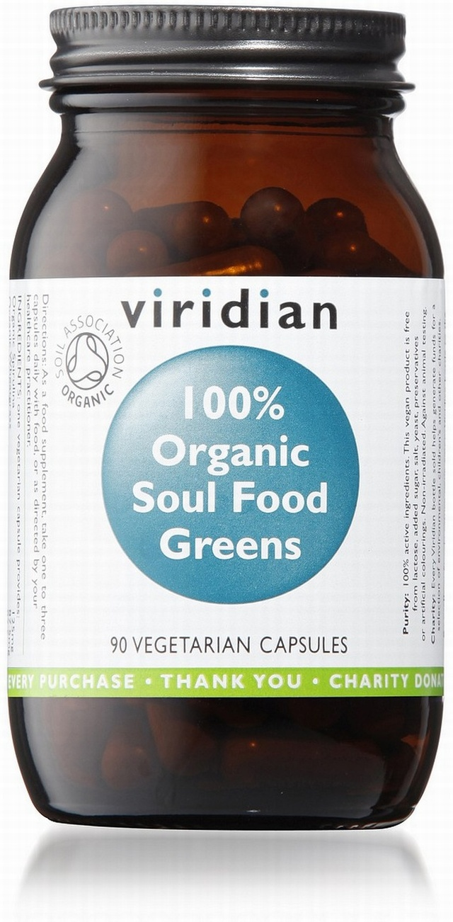 Viridian Soul Food Greens Organic 90 Vegetable Capsules