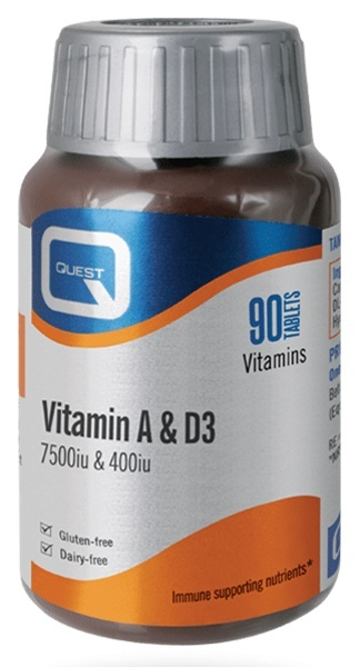 Quest Vitamin A and D 90 Tablets