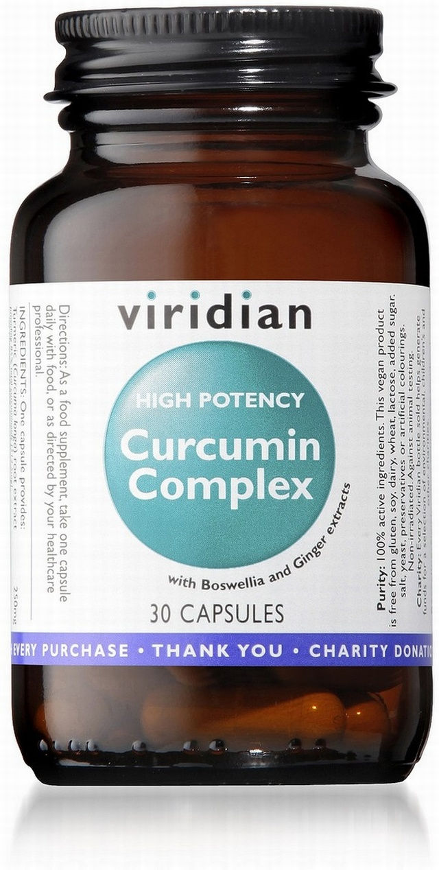 Viridian High Potency Curcumin Complex 30 Vegetable Capsules