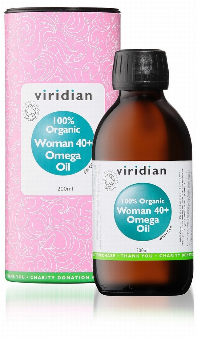 Viridian 100% Woman 40+ Omega Oil Organic 200ml