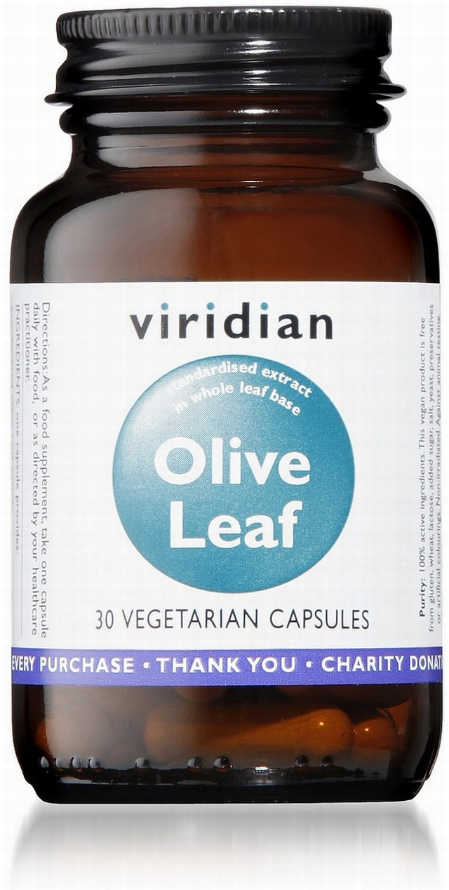 Viridian Olive Leaf Extract 30 Vegetable Capsules