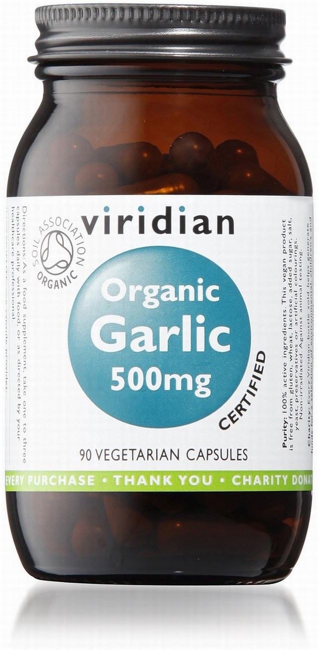Viridian Garlic 500mg Organic 90 Vegetable Capsules