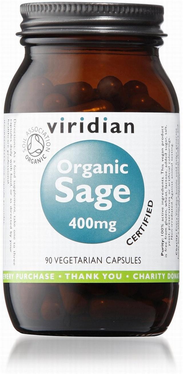 Viridian Sage 400mg Organic   Hot Flushes and Night Sweats Remedy    Elixirhealth.co.uk