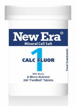 New Era Calc Fluor No. 1 240 Tablets - Tissue Elasticity, Circulation, Veins -  BULK OFFER!