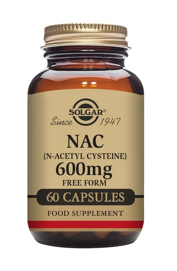 Solgar NAC (N-Acetyl Cysteine) 600 mg 60 Vegetable Capsules