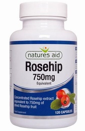Natures Aid Rosehip Extract 120 Capsules