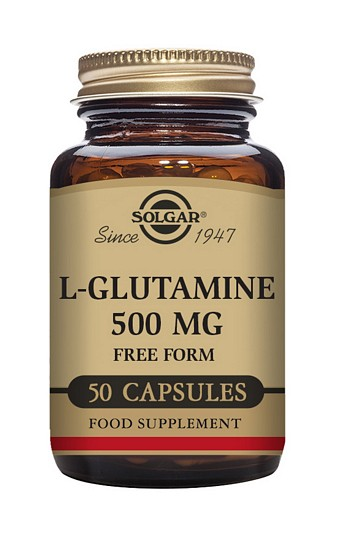 Solgar L-Glutamine 500 mg 50 Vegetable Capsules