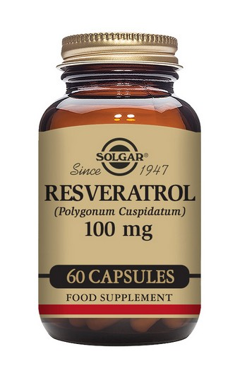 Solgar Resveratrol 100 mg 60 Vegetable Capsules