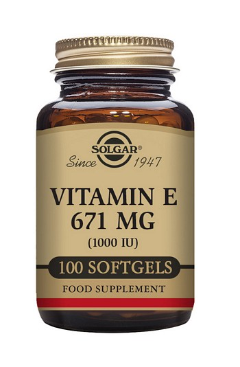 Solgar Vitamin E 671 mg (1000 IU) 100 Softgels