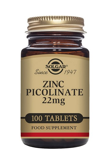 Solgar Zinc Picolinate 22 mg 100 Tablets