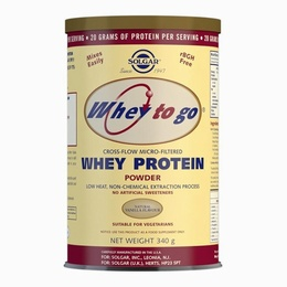 Solgar Whey To Go Whey Protein Powder Natural Vanilla Flavour 340g