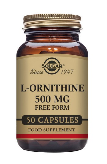 Solgar L-Ornithine 500 mg 50 Vegetable Capsules