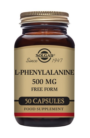 Solgar L-Phenylalanine 500 mg 50 Vegetable Capsules