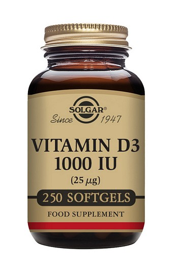 Solgar Vitamin D3 1000 IU 250 Softgels