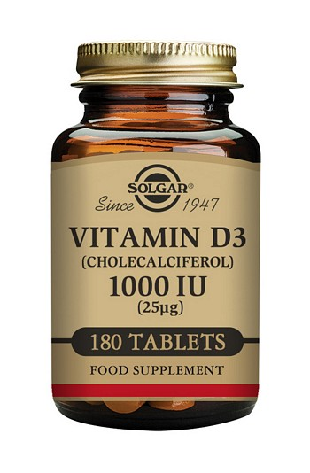 Solgar Vitamin D3 1000 IU 180 Tablets