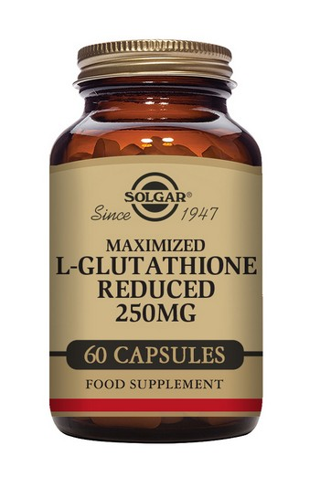 Solgar Maximised L-Glutathione (Reduced) 250 mg 60 Vegetable Capsules