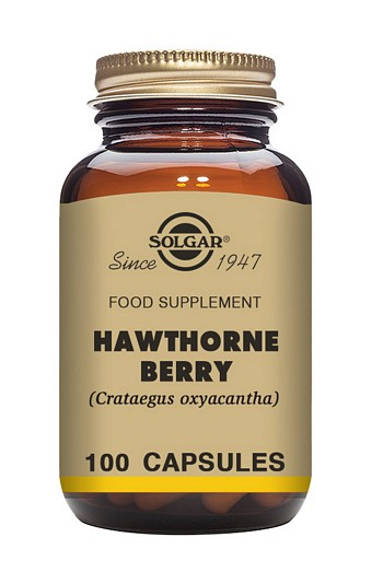 Solgar Hawthorne Berry 520 mg 100 Vegetable Capsules