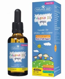 Natures Aid Vitamin D3 Drops 200 iu 50 ml