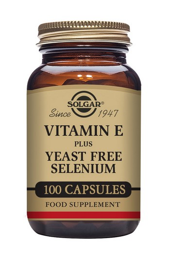 Solgar Vitamin E (168mcg) with Yeast Free Selenium (75mcg) 100 Vegetable Capsules