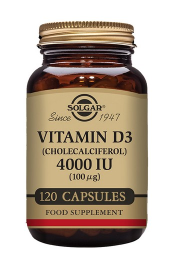 Solgar Vitamin D3 4000mcg Vegetable 120 Capsules