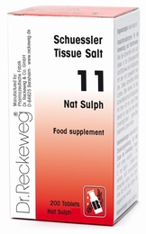 Schuessler Nat Sulph No. 11 - 200 tablets - BULK OFFER!