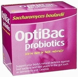 Optibac Saccharomyces boulardii 80 Vegetable Capsules