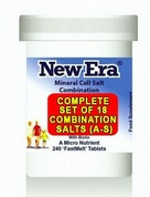 Complete Set of 18 New Era Combination Tissue Salts