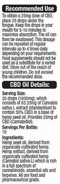 ImproveMe Organic Raw CBD Cannabis Oil 250mg 10ml - SPECIAL OFFER!