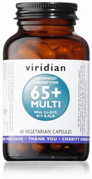 Viridian 65+ Multi 60 Vegetable Capsules
